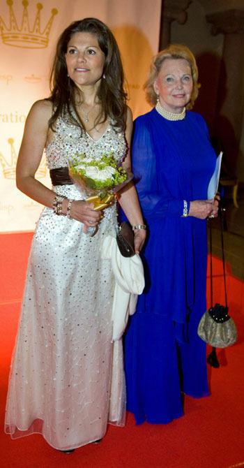 Marianne Bernadottes koboltblå klänning