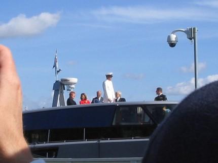 ... och i båten. På väg mot nästa stopp - kajen!