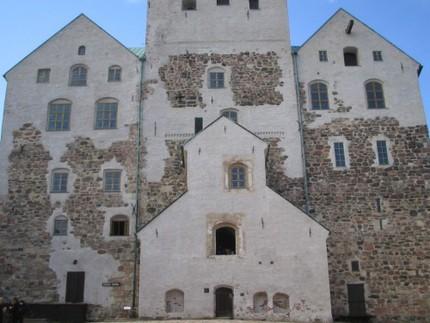 På Åbo slott åt kungaparet en läcker lunch...